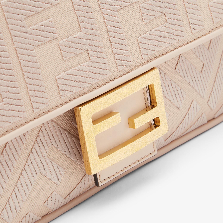 FENDI BAGUETTE - Pink FF canvas bag - view 5 detail