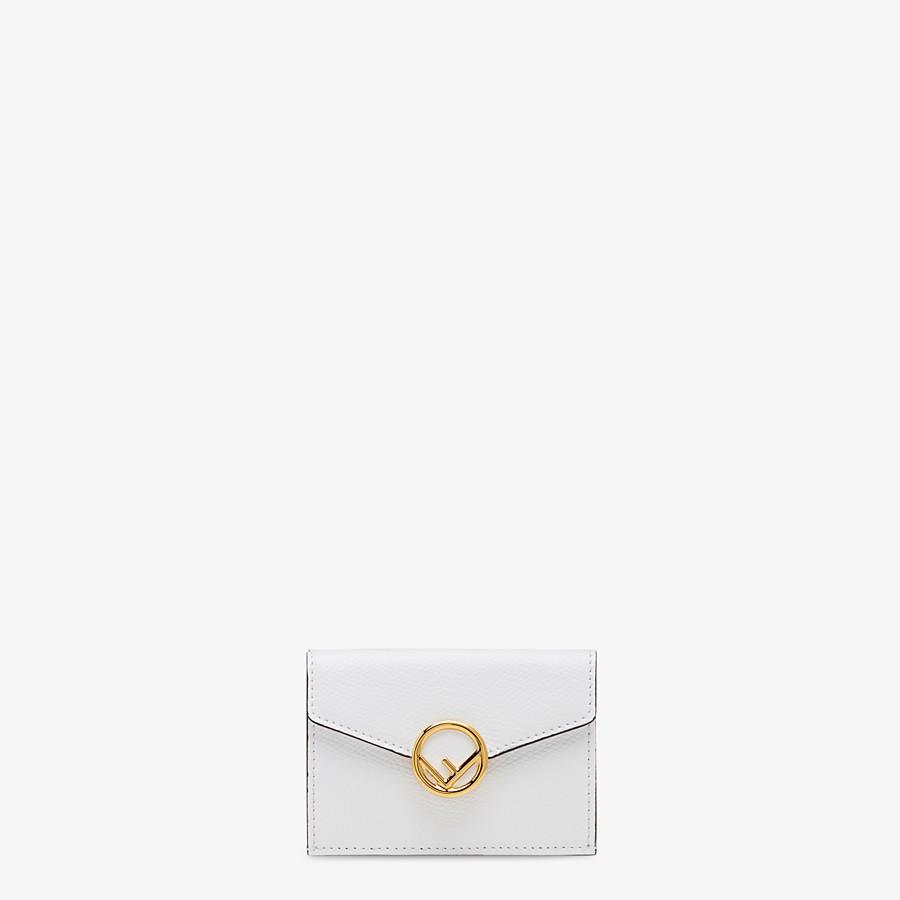 FENDI MICRO TRIFOLD - White leather wallet - view 1 detail