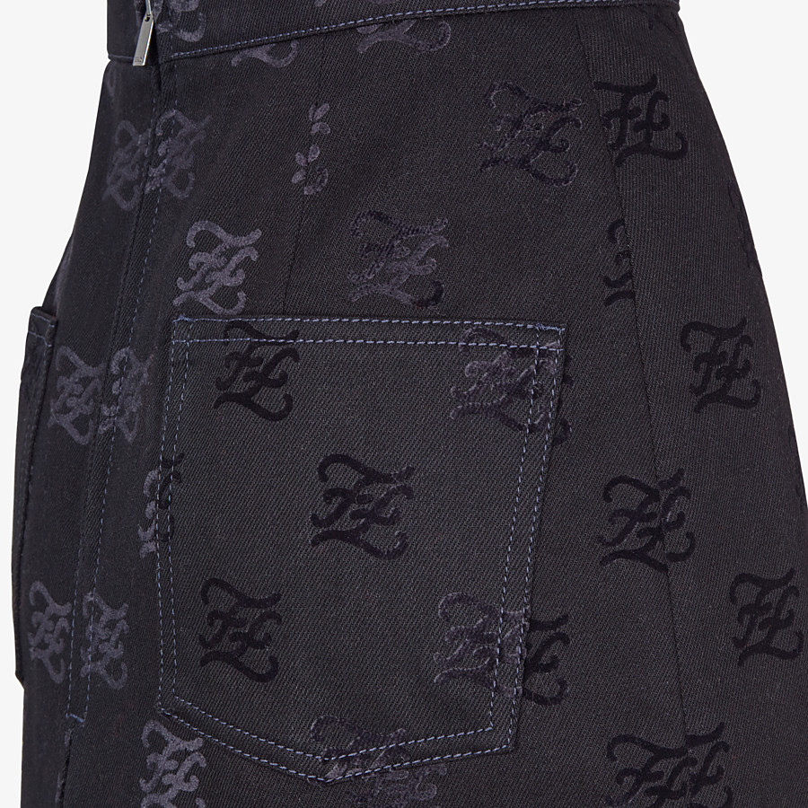 FENDI ROCK - Rock aus Denim in Schwarz - view 3 detail