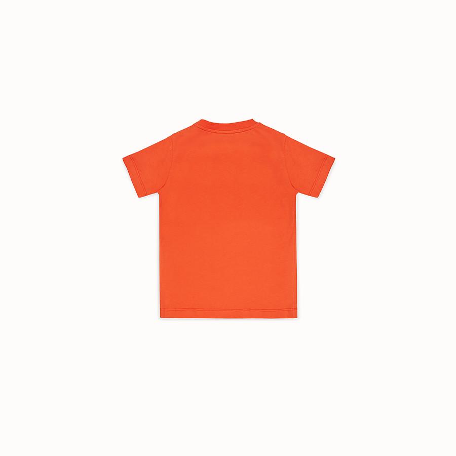 FENDI T-SHIRT - Orange jersey T-shirt - view 2 detail