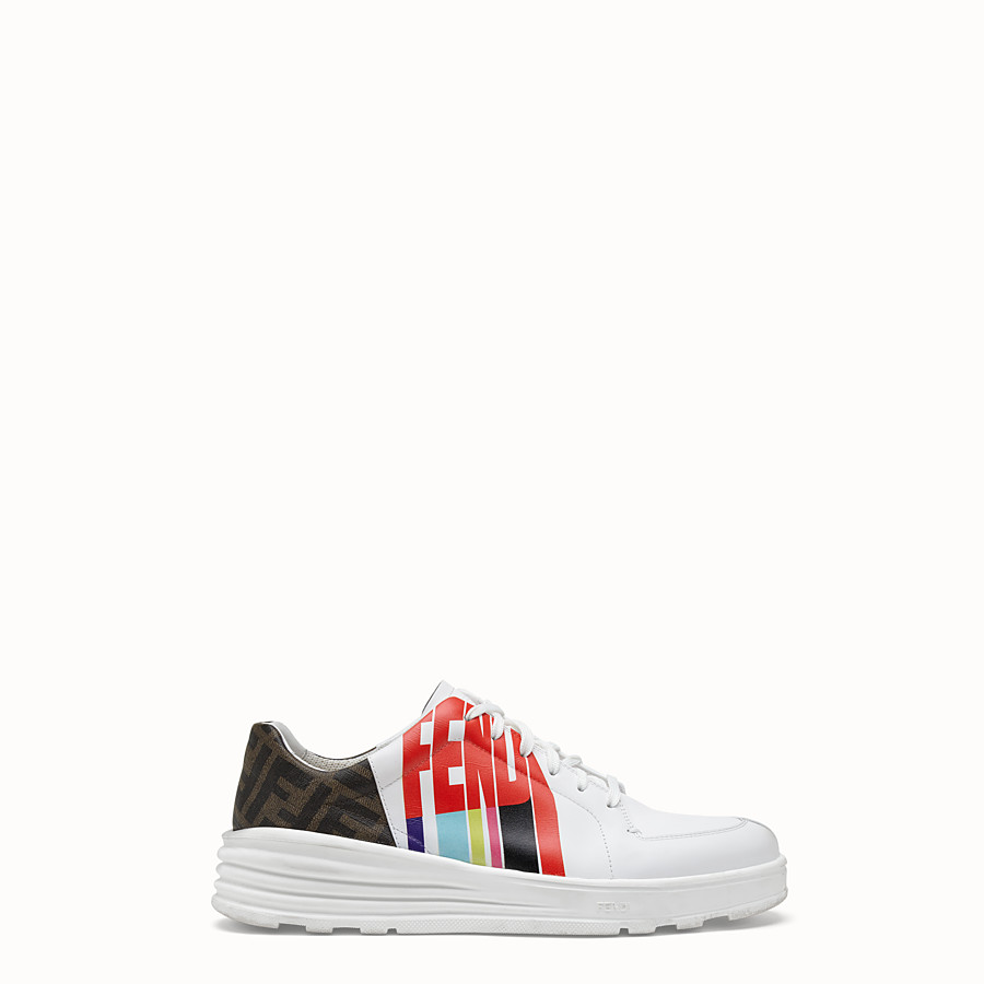 FENDI SNEAKERS - Fendi Roma Amor leather low-tops - view 1 detail
