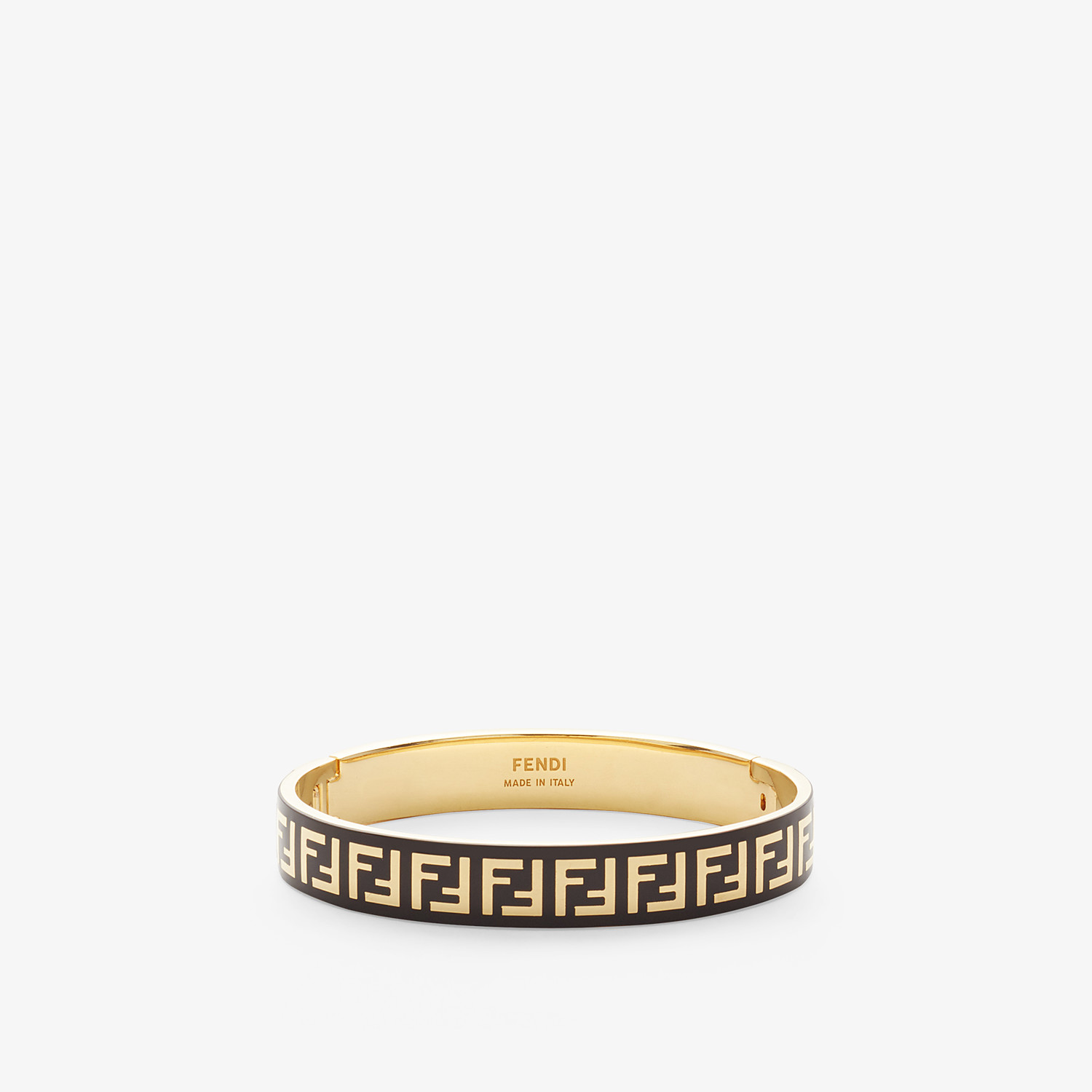 FENDI FF BRACELET - Gold and black coloured bracelet - view 1 detail