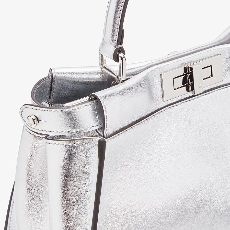FENDI PEEKABOO ICONIC MEDIUM - Silver leather bag - view 5 detail