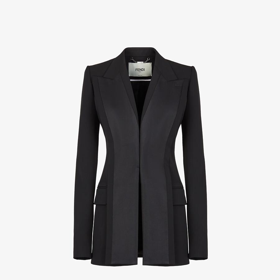 FENDI JACKET - Black grain de poudre jacket - view 1 detail