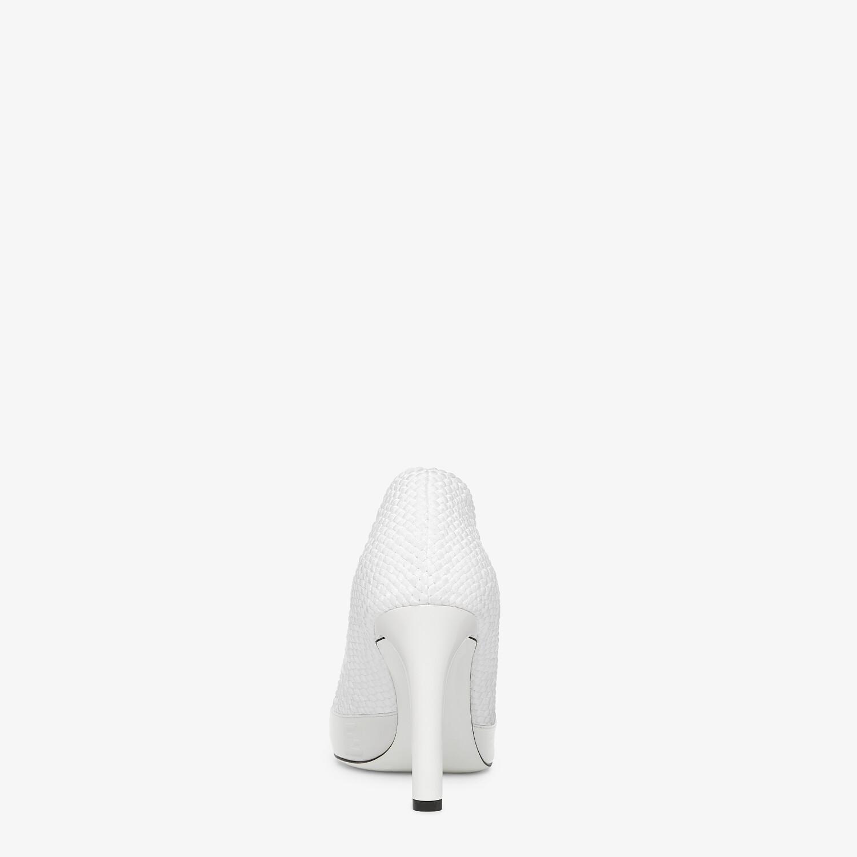 FENDI FENDI REFLECTIONS PUMPS - White elasticated lace pumps - view 3 detail