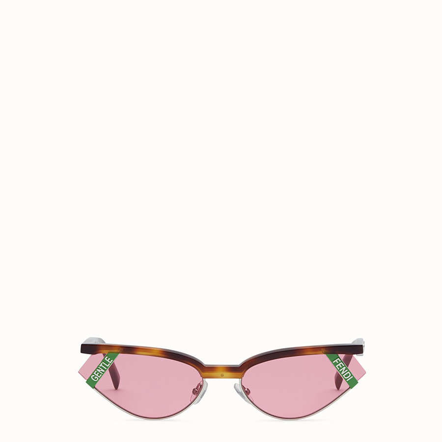 FENDI GENTLE Fendi No. 1 - Havana and pink sunglasses - view 1 detail
