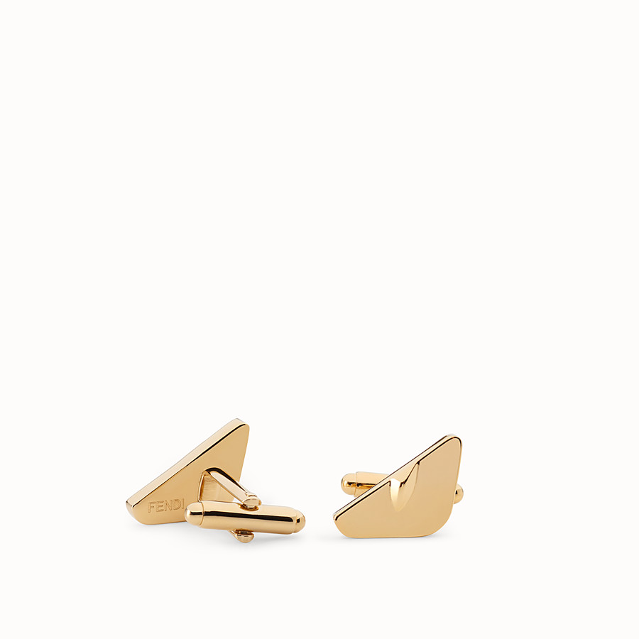 FENDI CUFFLINKS - Gold-colour cufflinks - view 1 detail