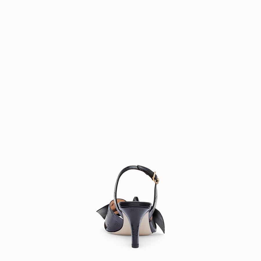 FENDI 涼鞋 - 黑色皮革涼鞋 - view 3 detail