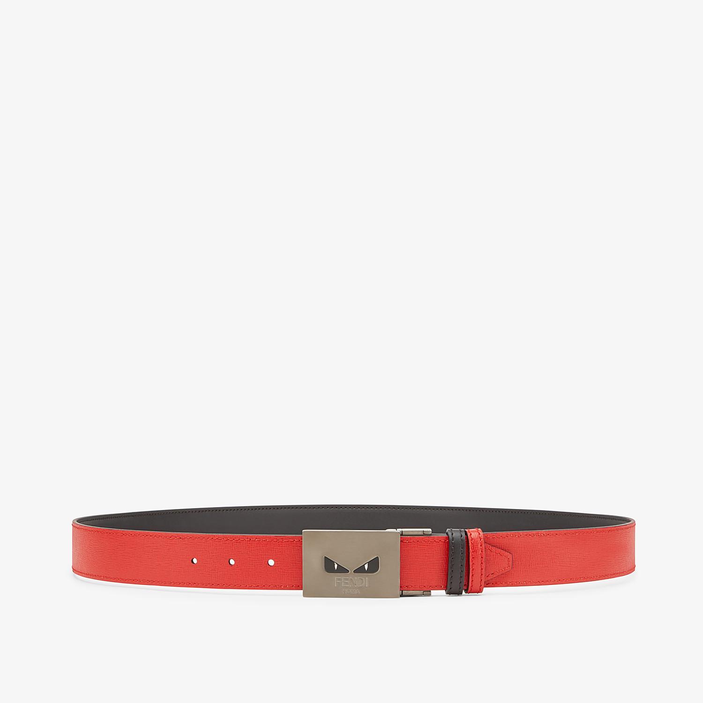 FENDI BELT - Black and red reversible belt - view 1 detail
