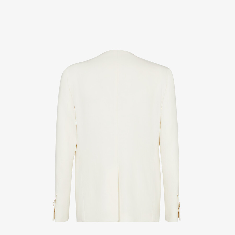 FENDI JACKET - White linen blazer - view 2 detail