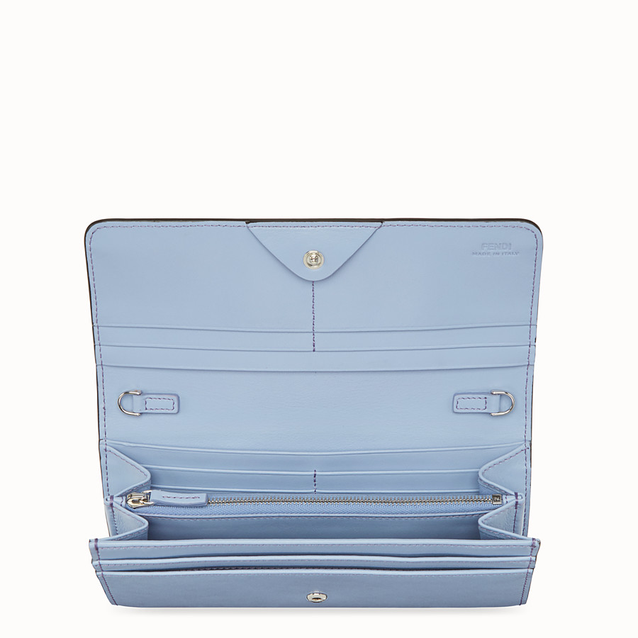 FENDI CONTINENTAL WITH CHAIN - Light blue leather wallet - view 4 detail