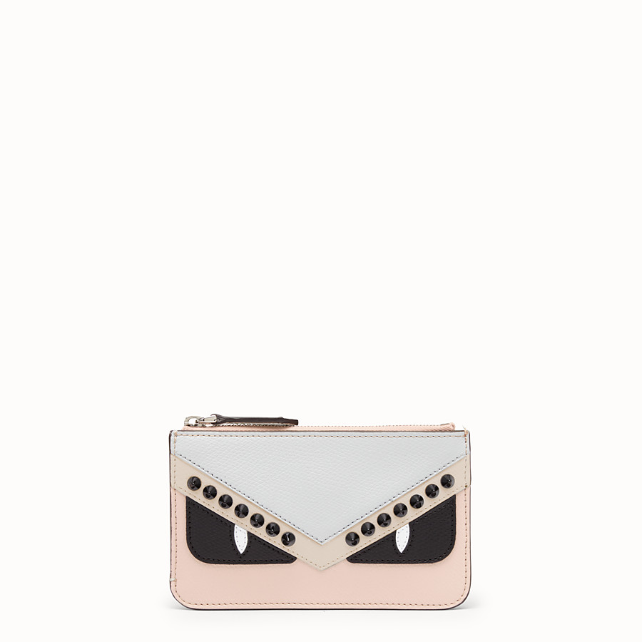 FENDI KEY RING POUCH - Multicolour leather pouch - view 1 detail