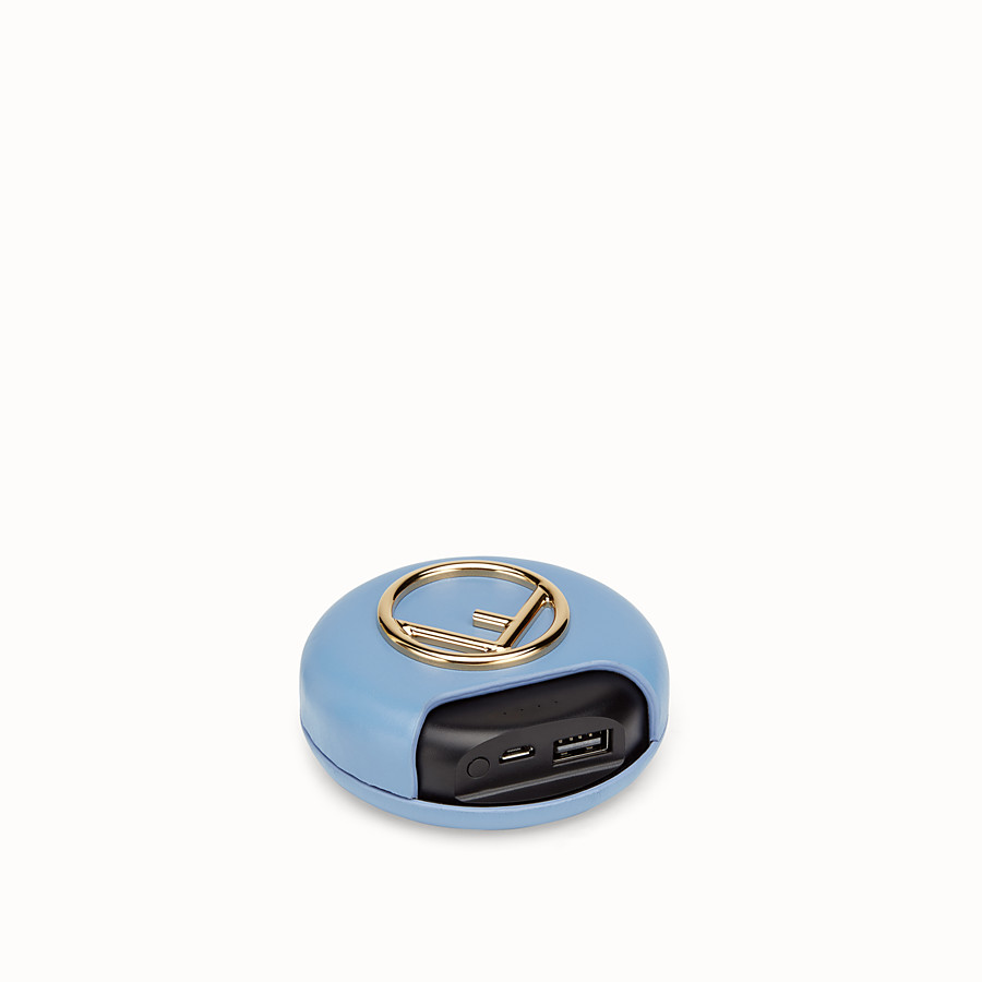 FENDI WIRELESS HEADPHONES - Pale blue headphones and power bank - view 4 detail
