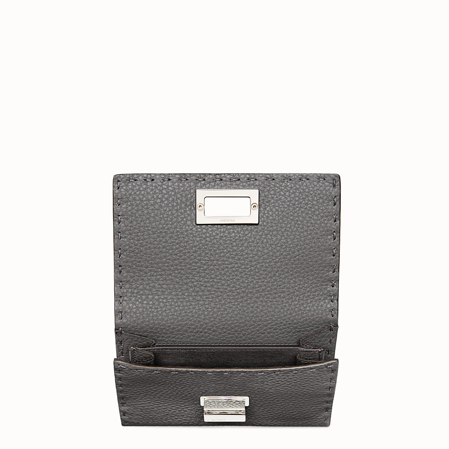 FENDI CONTINENTAL MEDIUM - Medium grey Selleria continental wallet - view 4 detail