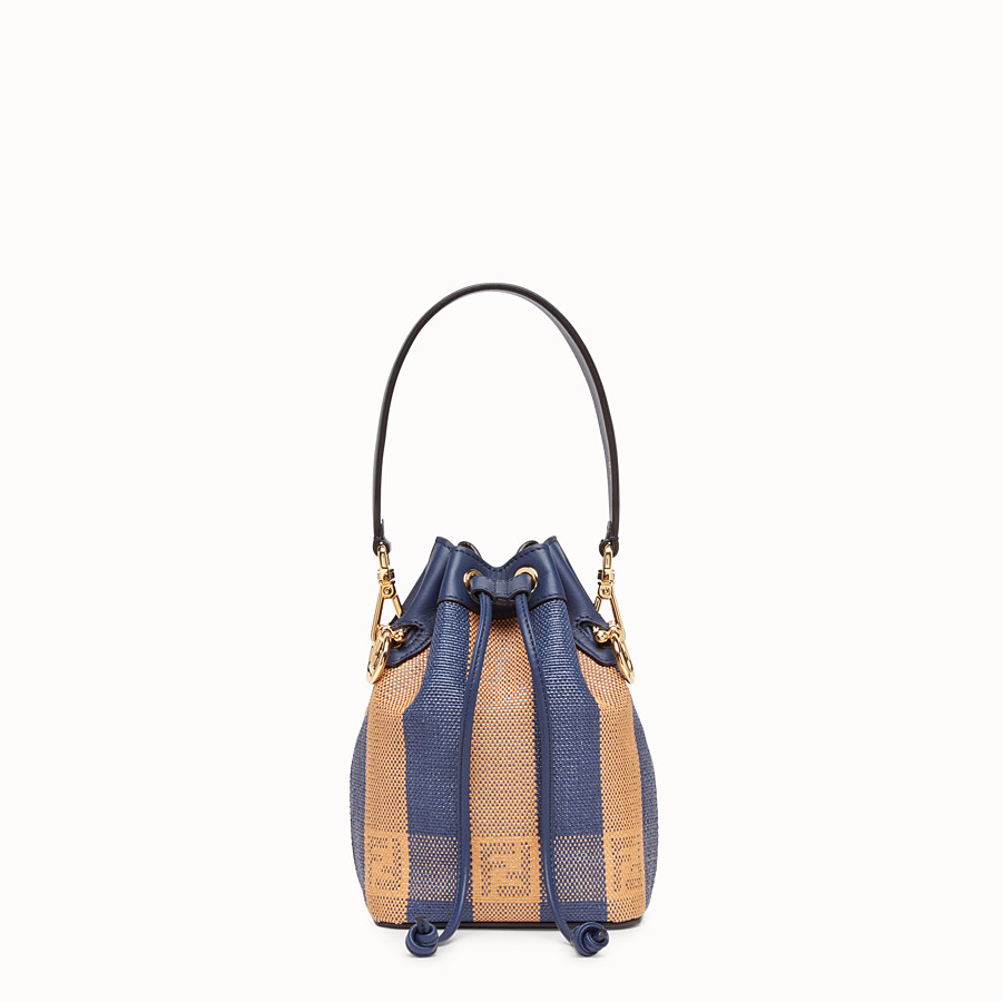 FENDI MON TRESOR - Blue raffia mini bag - view 1 detail