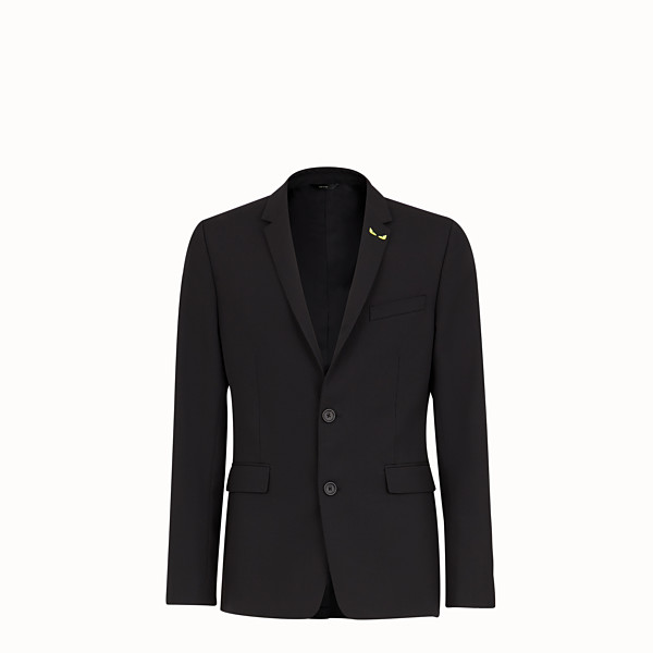 FENDI JACKET - Black wool gabardine blazer - view 1 small thumbnail