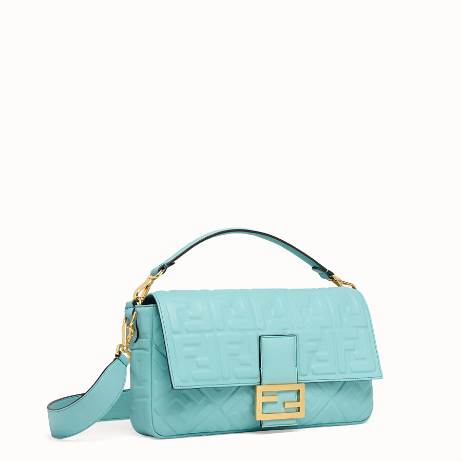 FENDI BAGUETTE LARGE - Pale blue leather bag - view 2 detail