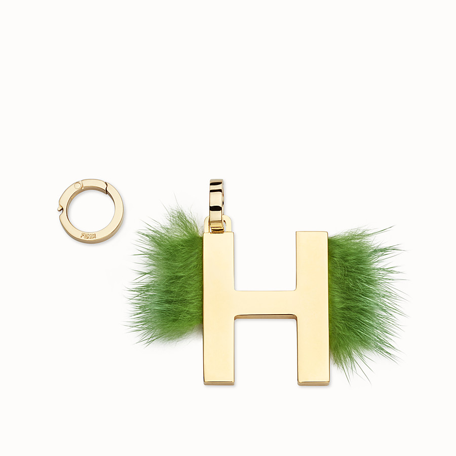 FENDI ABCLICK H - Pendant with light green fur - view 1 detail