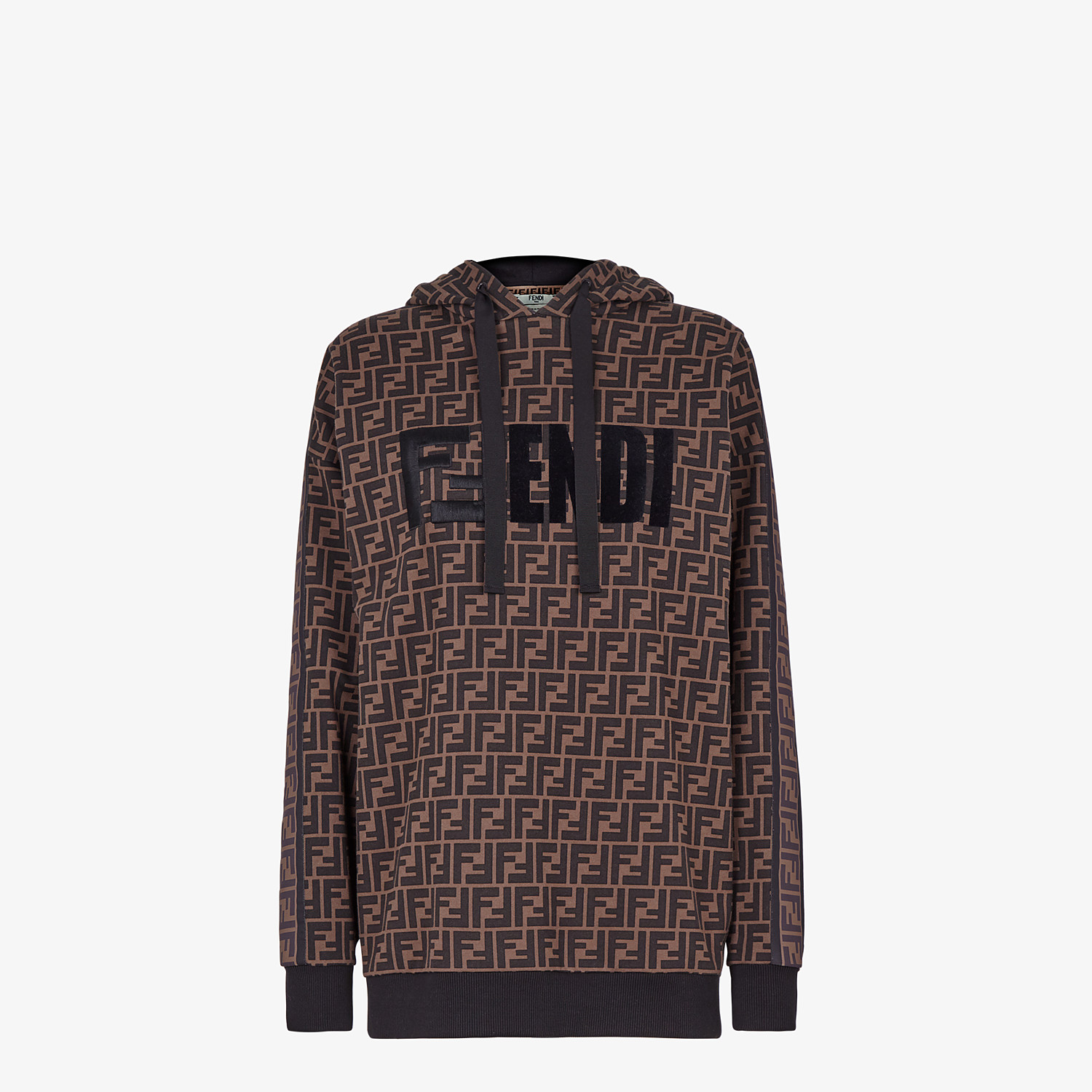 FENDI SWEATSHIRT - Brown jersey sweatshirt - view 1 detail