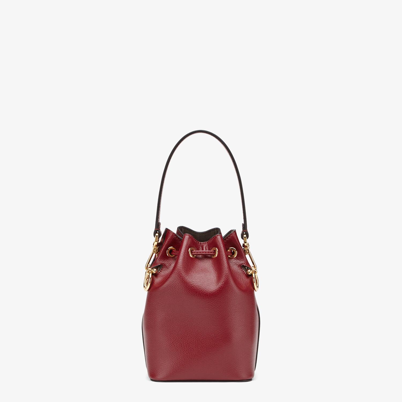 FENDI MON TRESOR - Burgundy leather mini bag - view 3 detail