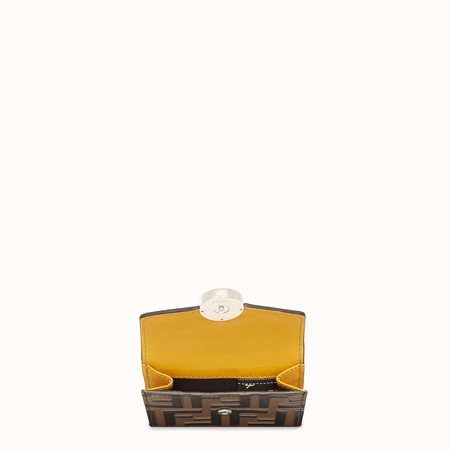 FENDI MICRO TRIFOLD - Yellow leather wallet - view 4 detail