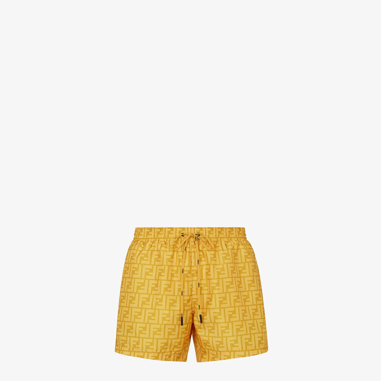 FENDI SWIM SHORTS - Yellow Lycra® shorts - view 1 detail