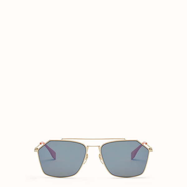 FENDI EYELINE - Gold sunglasses - view 1 small thumbnail