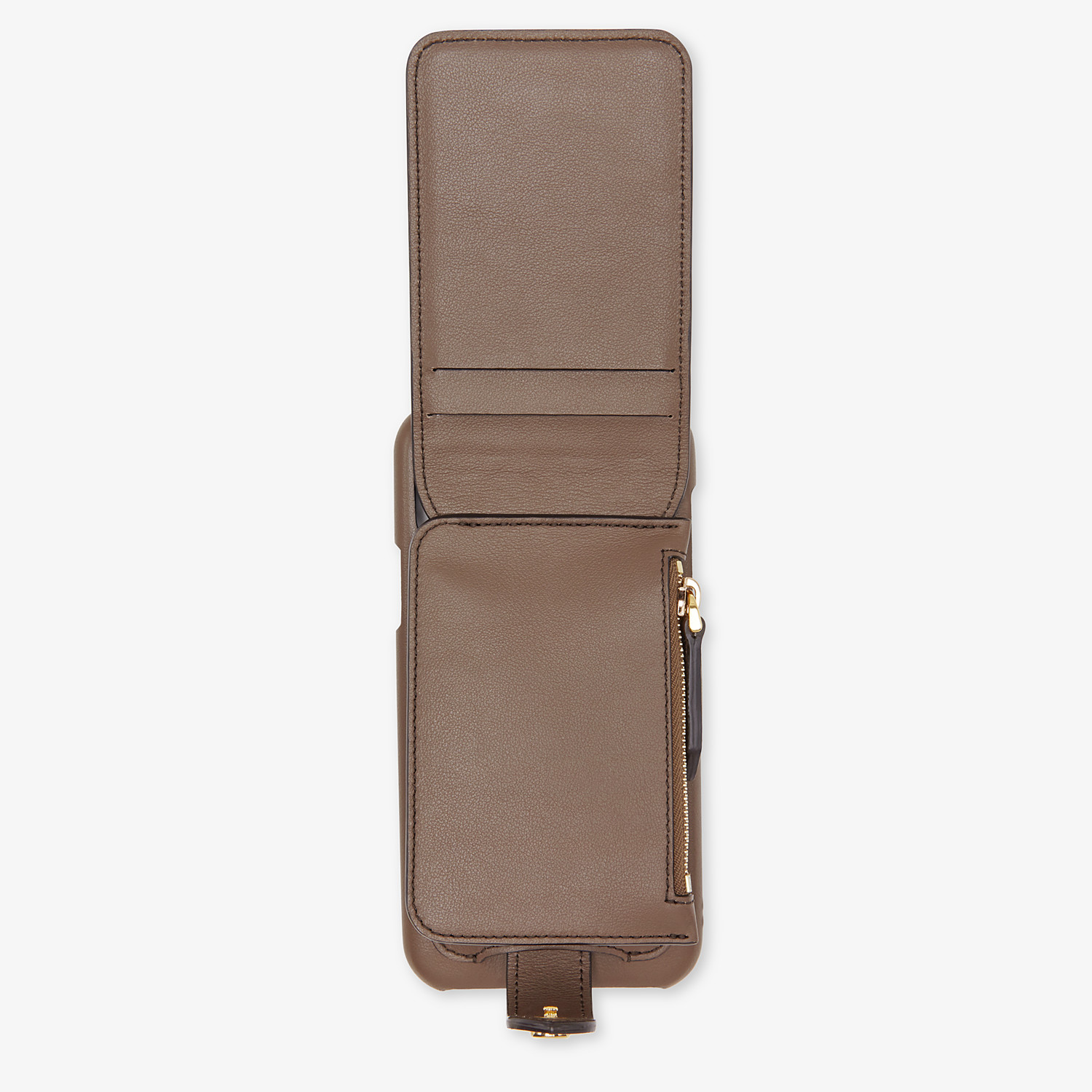 FENDI SMARTPHONE CASE - Brown leather cover - view 4 detail