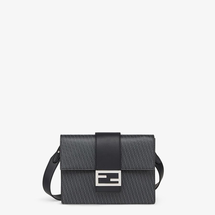 FENDI FLAT BAGUETTE - Dark gray leather bag - view 1 detail