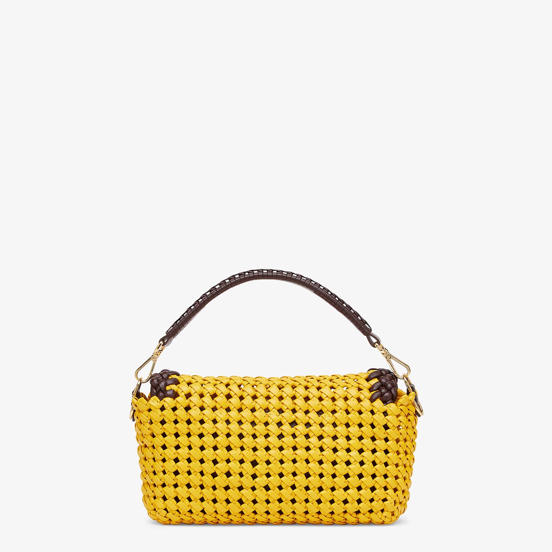 FENDI BAGUETTE - Yellow leather interlace bag - view 3 detail