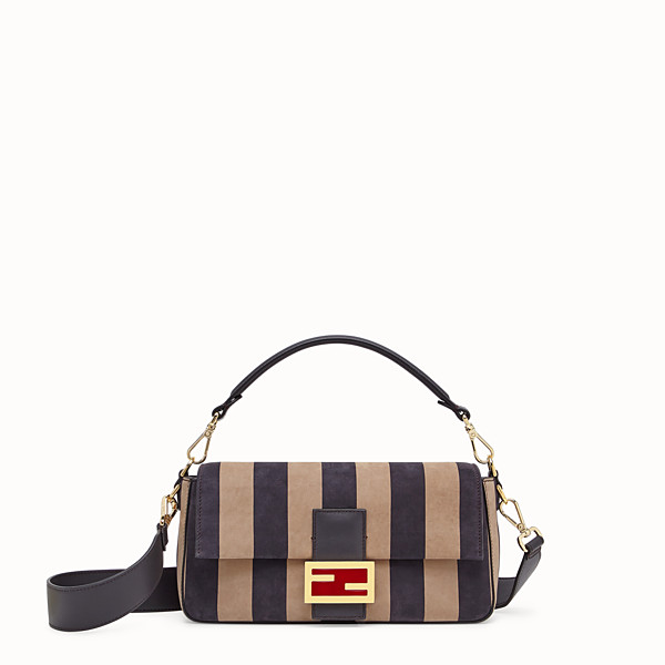 FENDI BAGUETTE - Brown nubuck leather bag - view 1 small thumbnail