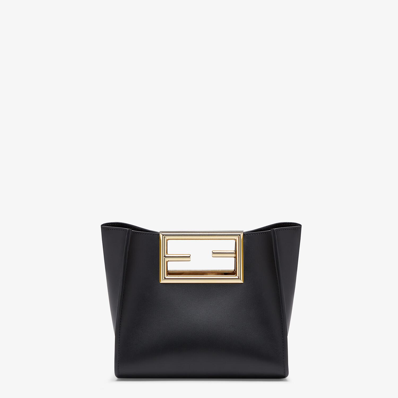 FENDI FENDI WAY SMALL - Black leather bag - view 1 detail