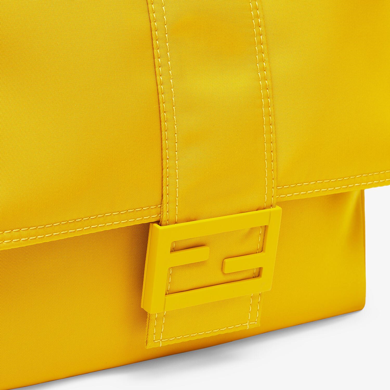 FENDI BAGUETTE MESSENGER BAG MEDIUM - Yellow nylon bag - view 5 detail
