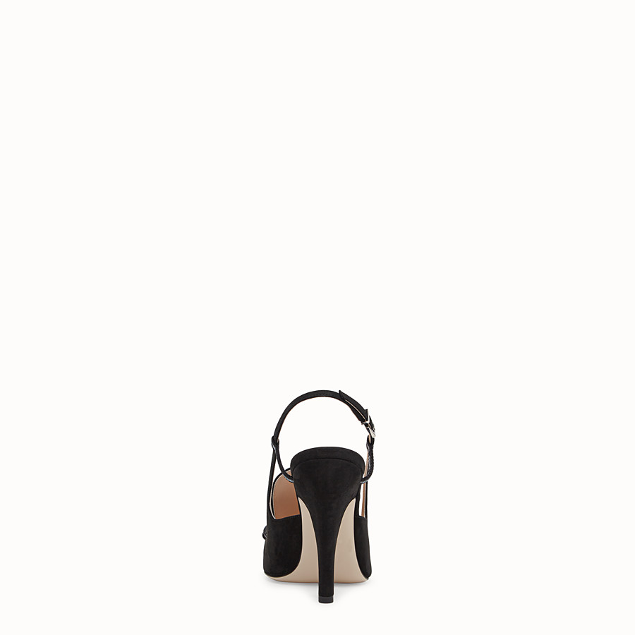 FENDI SLINGBACK - Black nubuck slingbacks - view 3 detail