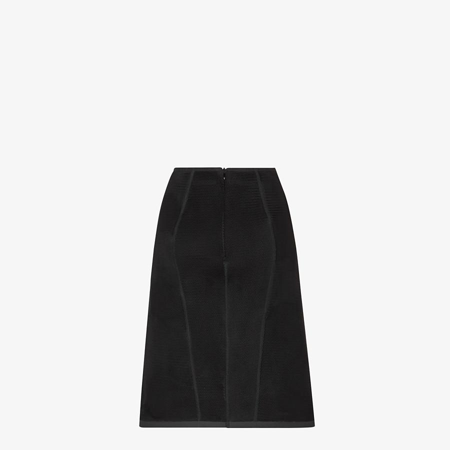 FENDI SKIRT - Black micromesh skirt - view 2 detail