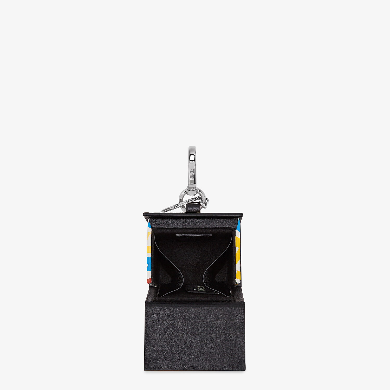 FENDI KEY CHARM - Multicolor leather key case - view 3 detail