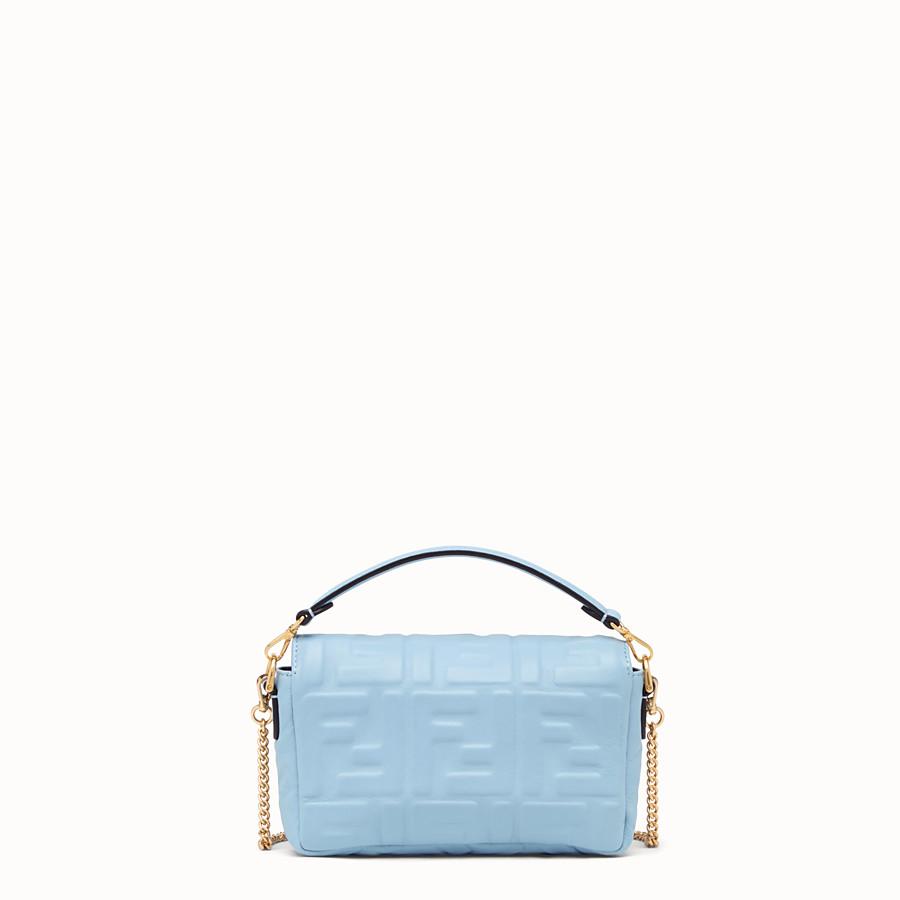 FENDI BAGUETTE - Light blue nappa leather bag - view 4 detail
