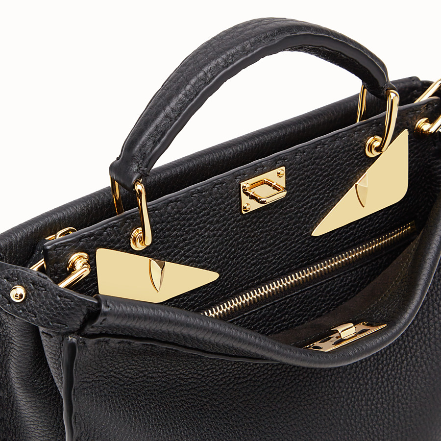 FENDI PEEKABOO ICONIC FIT MINI - Tasche aus Leder in Schwarz - view 5 detail