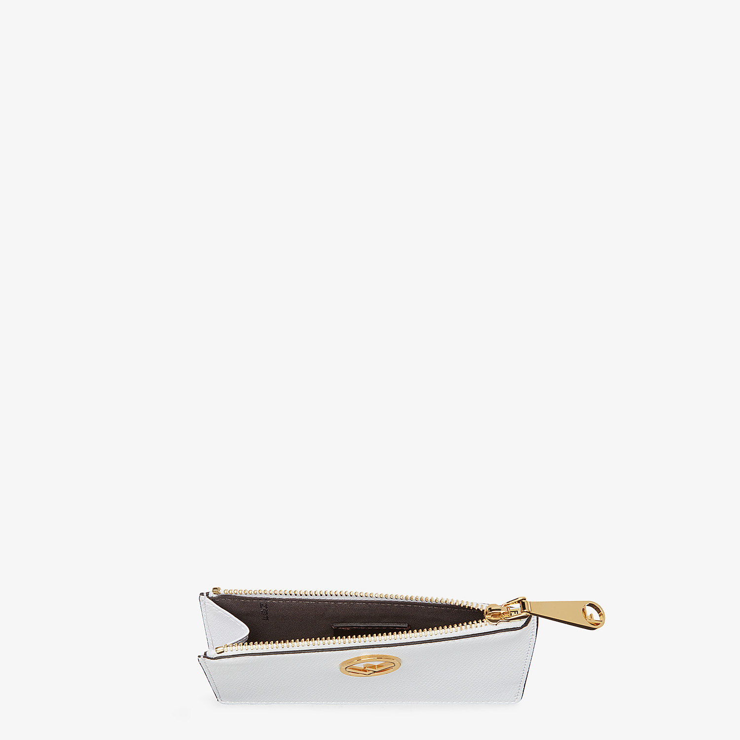 FENDI CARD POUCH - White leather card holder - view 4 detail