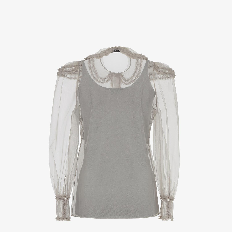 FENDI SHIRT - Grey tulle shirt - view 2 detail