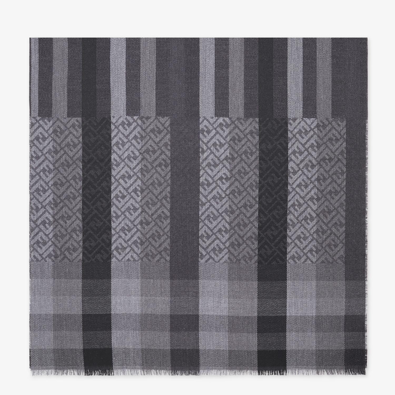 FENDI STOLE - Black wool stole - view 1 detail