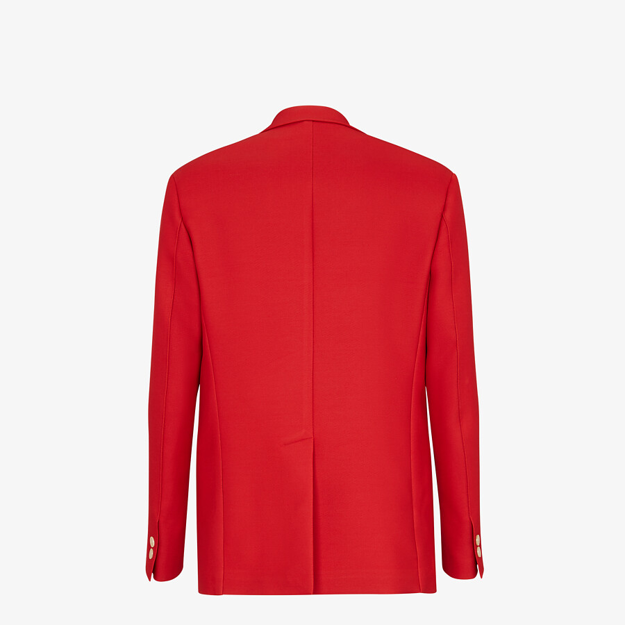 FENDI JACKET - Red wool jacket - view 2 detail