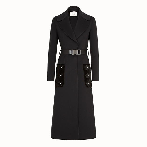 FENDI OVERCOAT - Black cashmere coat - view 1 small thumbnail