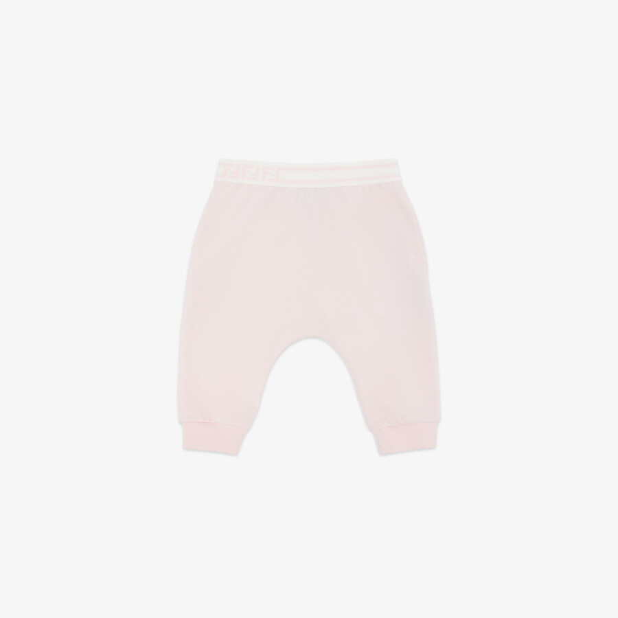 FENDI BABY TROUSERS - Pink jersey baby trousers - view 1 detail