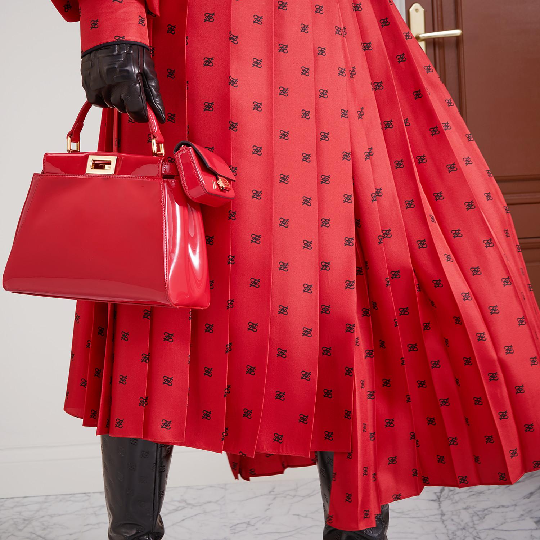 FENDI PEEKABOO ICONIC MINI - Red patent leather bag - view 2 detail