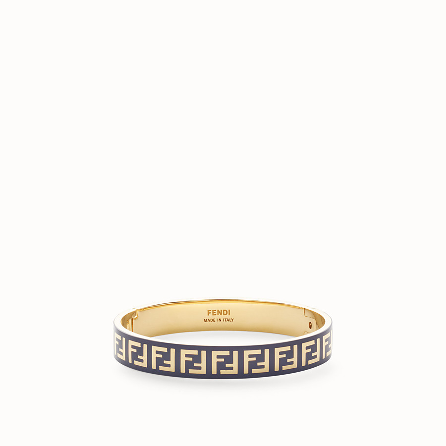 FENDI FF BRACELET - Gold and blue coloured bracelet - view 1 detail