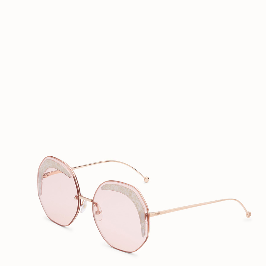 FENDI FENDI GLASS - Copper-coloured sunglasses - view 2 detail