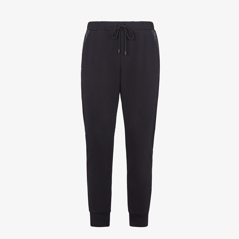 FENDI PANTS - Black jersey pants - view 1 detail