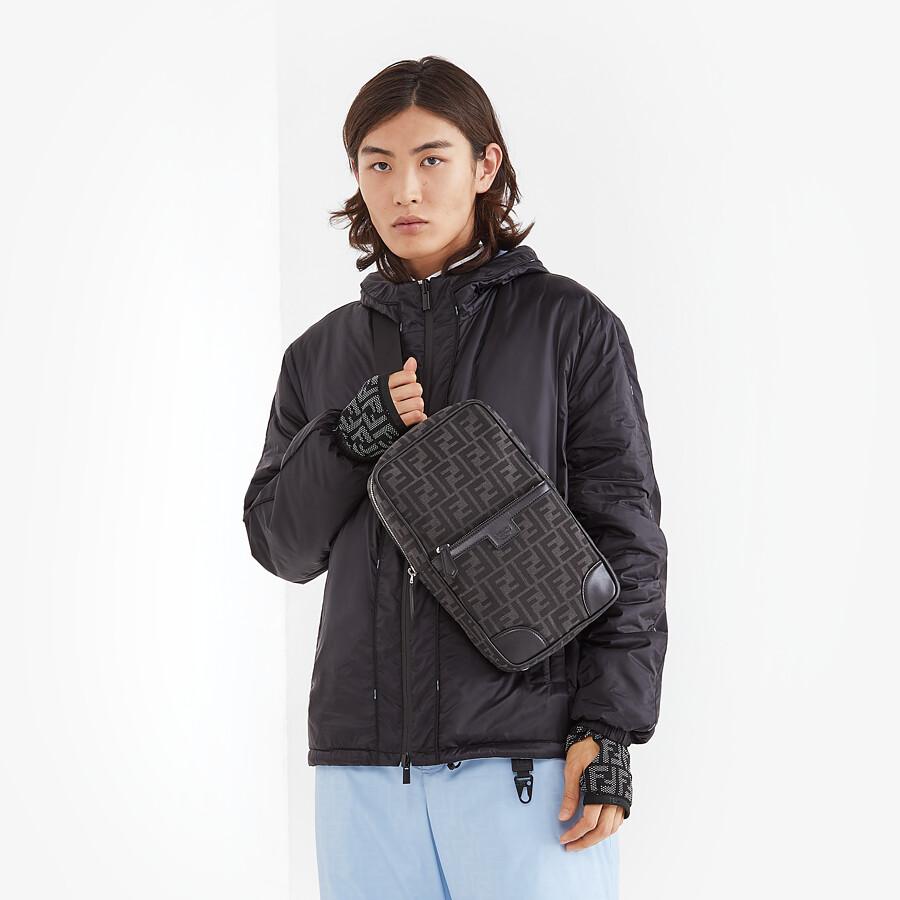 FENDI ONE-SHOULDER TRAVEL BACKPACK - FF jacquard fabric backpack - view 5 detail