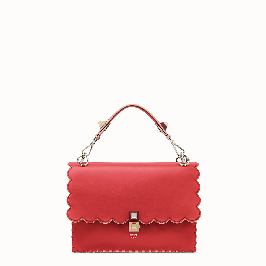 451a5af6b4f Red leather bag - KAN I | Fendi